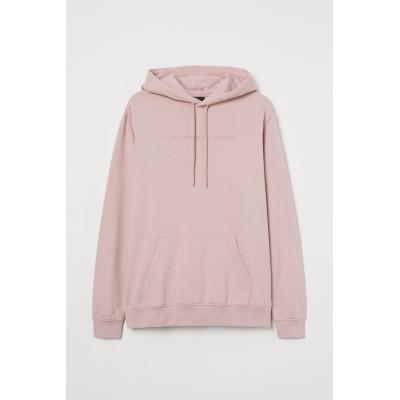 H&M - デザインスウェットパーカ - ピンク