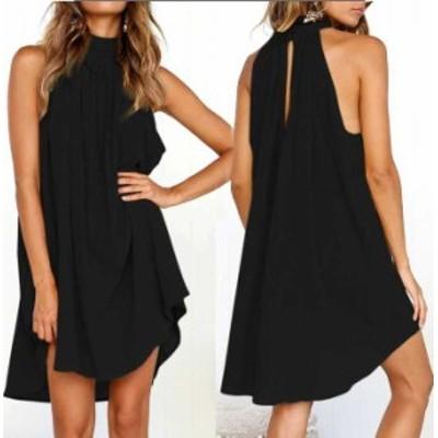 予約商品 大きいサイズ レディース ノースリーブ ドレープ ワンピース ドレスオーバーサイズ 韓国ファッション ビッグサイズ otona LL 3
