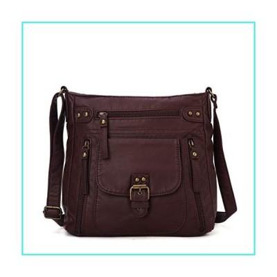 【新品】KL928 Crossover Purse and Handbags Crossbody Bags for Women Soft Leather Wallet Small Neatpack Bag with Pockets Dark Red(並行輸入品