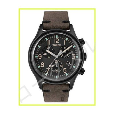 Timex TW2R96500 メンズ クロノグラフ クォーツ腕時計 レザーストラップ付き 並行輸入品