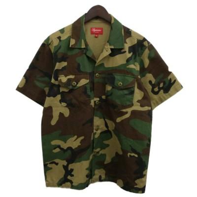 SUPREME 13SS「Military Nam Shirt」ミリタリー半袖シャツ ウッドランドカモ サイズ:S (渋谷店) 200904