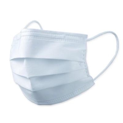 不織布マスク 普通サイズホワイト 50枚入(10枚×5袋入)(新型コロナウイルス対策品/3密防止/飛沫防止/白/三層構造)