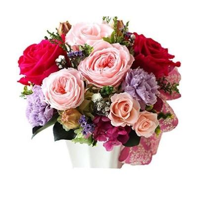 Azurosa(アズローザ) プリザーブドフラワー ギフト 枯れない花 オールドローズ バラ カーネーション アジサイ ヘデラ アイビー デ