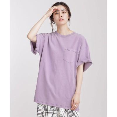 JEMORGAN/別注クルーネックポケットTシャツ 半袖 L.パープル1