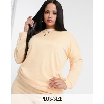 ユアーズ レディース シャツ トップス Yours sweatshirt in pale peach - part of a set