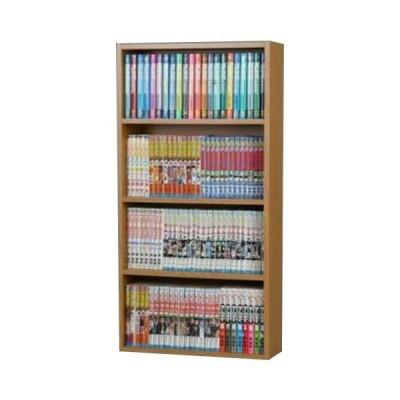本棚 書棚 コミックラック 幅45cm 薄型 ブラウン