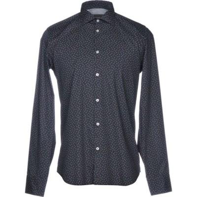 マニュエル リッツ MANUEL RITZ メンズ シャツ トップス patterned shirt Dark blue