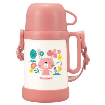 水筒・ボトル・ポリタンク ピーコック ステンレスボトル 0.45L ピーチブロッサム
