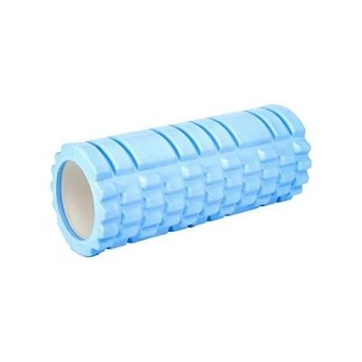 フォームローラー 筋膜リリース ショート サイズ スポーツ フィットネス 丸洗いOK (サックス free)