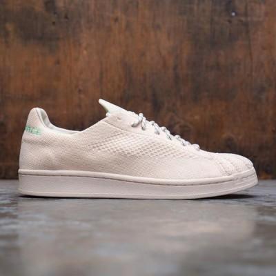 アディダス メンズ シューズ  Adidas x Pharrell Williams Men Superstar Primeknit (beige / ecru tint / cream white / glow mint)