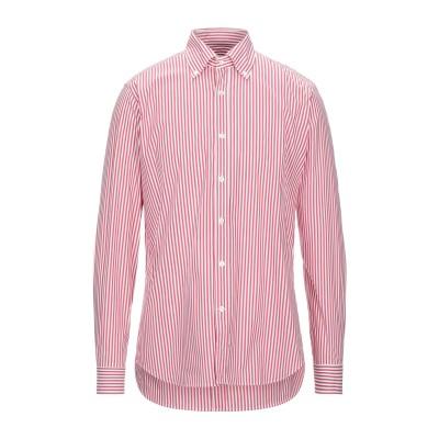 カリバン CALIBAN シャツ レッド 40 コットン 70% / ナイロン 25% / ポリウレタン 5% シャツ