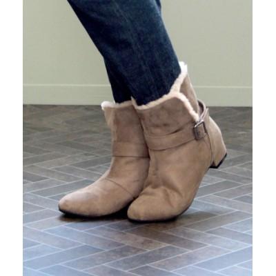 SOROTTO / 3E幅広 セパレートエコファーアーモンドトゥブーツ WOMEN シューズ > ブーツ