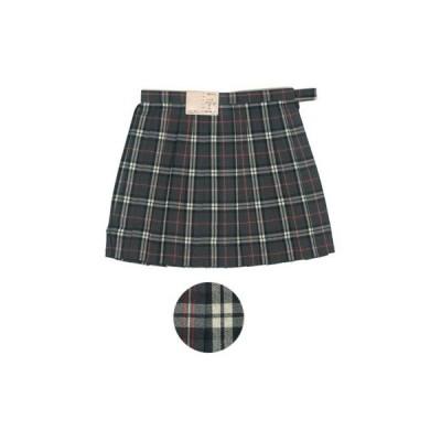 サマースカート チェック柄 グレー 63cm