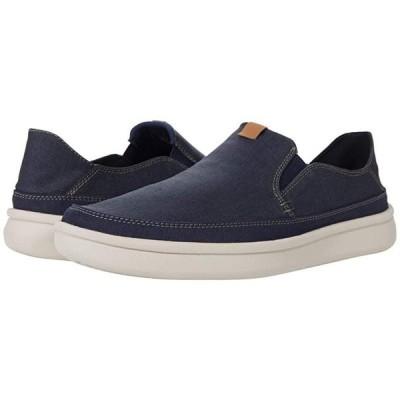 クラークス Cantal Step メンズ スニーカー 靴 シューズ Navy Canvas