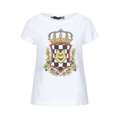 ラブ モスキーノ LOVE MOSCHINO T シャツ ホワイト 38 コットン 100% / ポリウレタン T シャツ