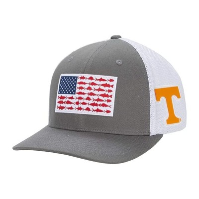 Columbia College Tennessee Volunteers PFG Mesh Fish Flag Ball Cap メンズ 帽子 UT Titanium