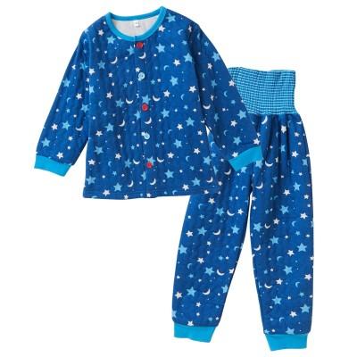 ソフトキルト腹巻付パジャマ(男の子 ベビー服 子供服) キッズパジャマ, Kids' Pajamas