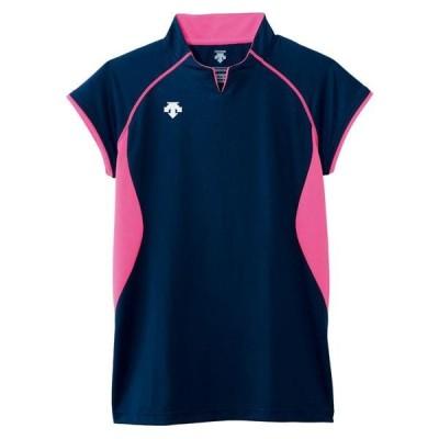DESCENTE バレー フレンチスリーブゲームシャツ 16SS ネイビー ケームシャツ・パンツ(dss4430-nvy)