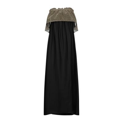 I-AM 7分丈ワンピース・ドレス ブラック M ポリエステル 100% 7分丈ワンピース・ドレス