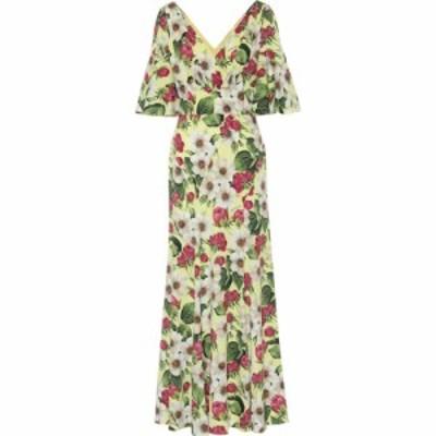 ドルチェandガッバーナ Dolce and Gabbana レディース ワンピース マキシ丈 ワンピース・ドレス floral stretch-silk maxi dress Roselli