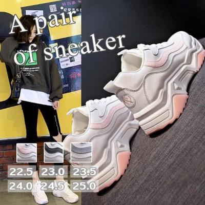 スニーカー レディース ランニングシューズ ウォーキング 厚底 ローカット 歩きやすい コンフォート 通気性 軽量 スポーツ カジュアル おしゃれ 美脚 靴