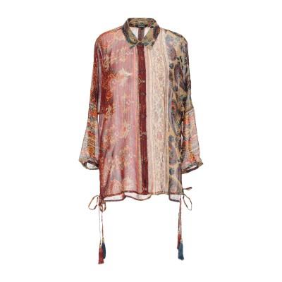 デシグアル DESIGUAL シャツ ブラウン S レーヨン 98% / 金属繊維 2% シャツ
