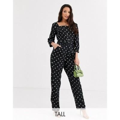 ワイエーエス レディース ワンピース トップス Y.A.S Tall Arianna polka dot jumpsuit