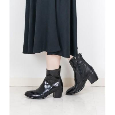 Brick Shiota Ink. / Lemargo レマルゴ サイドジップレザーショートブーツ WOMEN シューズ > ブーツ