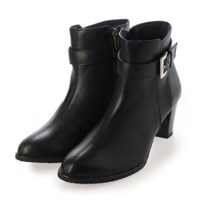 ミッシー デ ミッシー missy des missy 柔らかな素材で足当たりの良い シンプルベルトデザイン ショートブーツ  MMD9681 (ブラック)