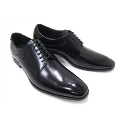 フランコ ルッチ/FRANCO LUZI FL2750-BLKブラック 紳士靴 プレーントゥ 外羽根 艶あり ビジネス フォーマル 送料無料