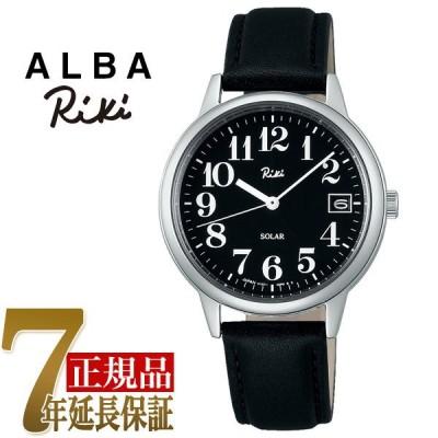 セイコー ALBA リキ ソーラー ユニセックス 腕時計 ブラック AKPD027