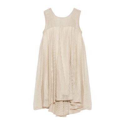 ミリー MILLY ミニワンピース&ドレス ベージュ 8 ポリエステル 68% / 麻 32% / シルク ミニワンピース&ドレス