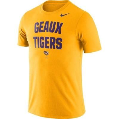 ナイキ メンズ Tシャツ トップス Nike Men's LSU Tigers Gold Dri-FIT Phrase T-Shirt
