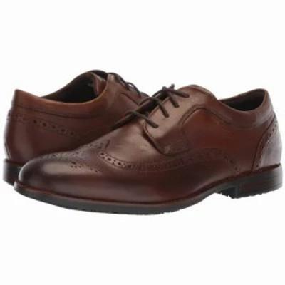 ロックポート 革靴・ビジネスシューズ Dustyn Waterproof Wingtip New Caramel