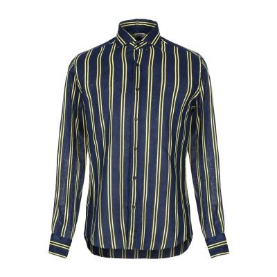 XACUS シャツ ダークブルー 40 リネン 100% シャツ