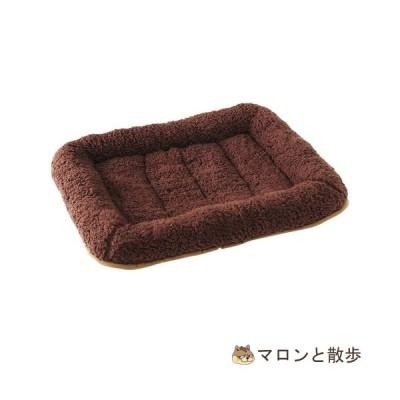 在庫処分 アルパカ風ベッド M チョコ 犬
