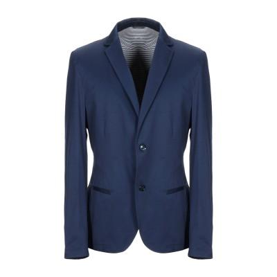 ダニエル アレッサンドリーニ DANIELE ALESSANDRINI テーラードジャケット ブルー 48 コットン 97% / ポリウレタン 3%