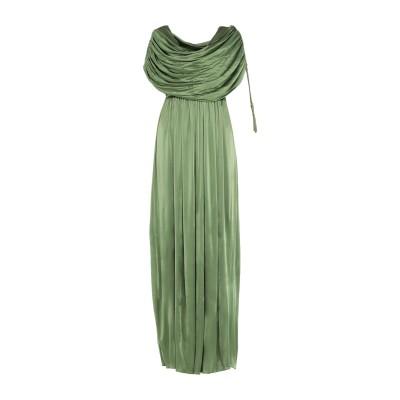 ランバン LANVIN ロングワンピース&ドレス グリーン 42 レーヨン 100% / コットン / アクリル ロングワンピース&ドレス