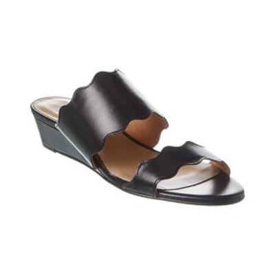フレンチソール レディース サンダル シューズ French Sole Brisbane Leather Wedge Sandal black nappa leather