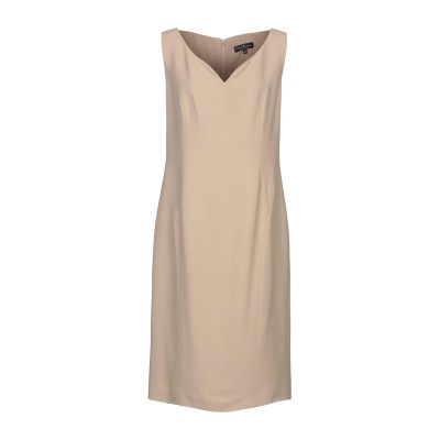 IVAN MONTESI ロングワンピース&ドレス ベージュ 48 アセテート 50% / レーヨン 50% ロングワンピース&ドレス