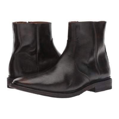 フライ Frye メンズ ブーツ シューズ・靴 Paul Inside Zip Black Brush-off Full Grain