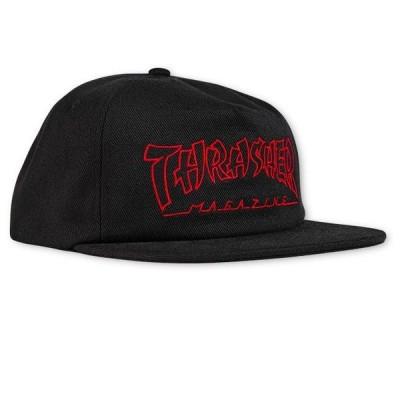 スラッシャー マガジン メンズ レディース チャイナバンクス スナップバック キャップ ブラック 帽子 THRASHER MAGAZINE CHINA BANKS SNAPBACK CAP BLACK