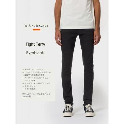 ヌーディージーンズ NudieJeans TIGHT TERRY タイトテリー エバーブラック EVER BLACK デニム 北欧 スウェーデン