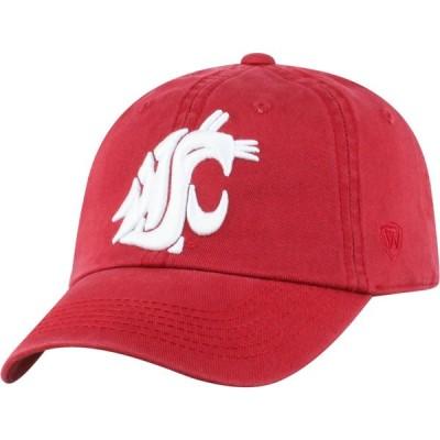 トップオブザワールド Top of the World メンズ キャップ 帽子 Washington State Cougars Crimson Crew Adjustable Hat