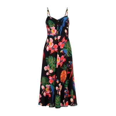 ヴァレンティノ VALENTINO 7分丈ワンピース・ドレス ブラック 36 シルク 100% 7分丈ワンピース・ドレス