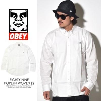 オベイ (OBEY) コットンポプリンシャツ ボタンダウンシャツ メンズ 長袖 OBEY EIGHTY NINE POPLYN WOVEN LS (181200143)
