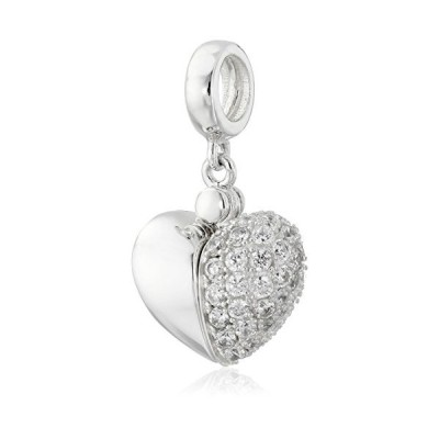 Chamilia Swarovski Zirconia Secret Message Heart Locket Bead Charm