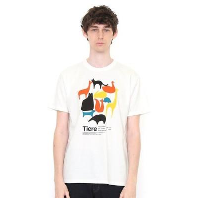 tシャツ Tシャツ ベーシックTシャツ/シンプルアニマルズ(ホワイト)