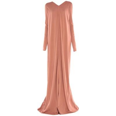 リック オウエンス RICK OWENS ロングワンピース&ドレス 赤茶色 40 コットン 97% / ポリウレタン 3% ロングワンピース&ドレス