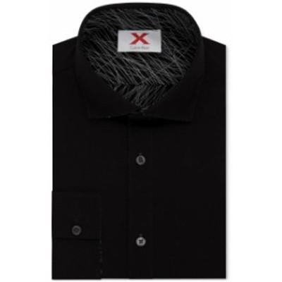Calvin Klein カルバンクライン ファッション ドレス Calvin Klein NEW Black Mens Small S 14-14 1/2 Reversible Dress Shirt
